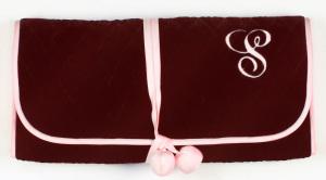 Cranberry Velvet Jewelry Roll